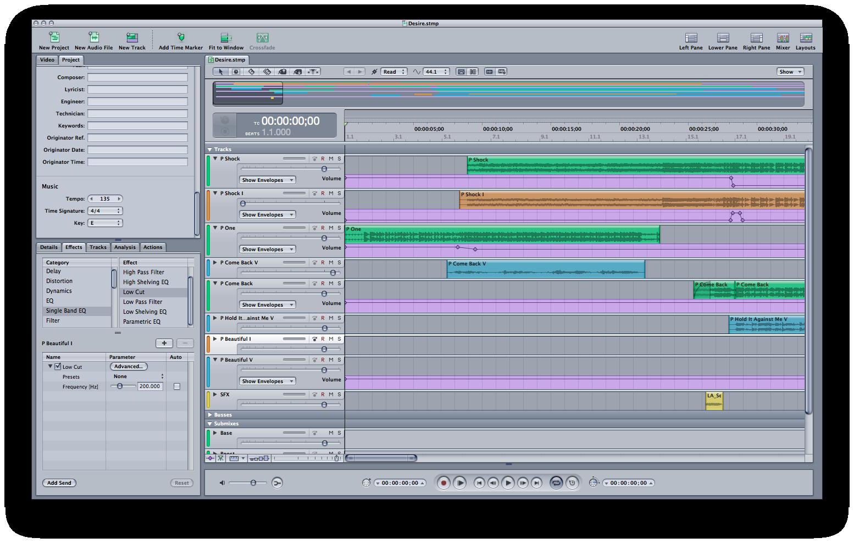 (Soundtrack Pro screenshot)