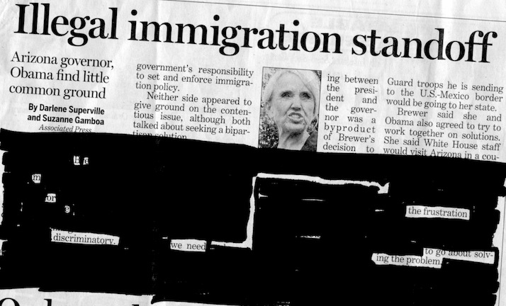"(Headline: ""Illegal immigration standoff"") Be more discriminatory. We need / the frustration to go about solving the problem."