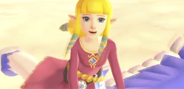 (Zelda rides her Loftwing, acting cute)