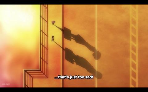 (Madoka and Homura are walking on a bridge at sunset)