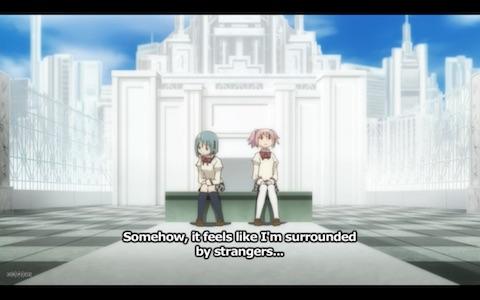 "Madoka: ""Somehow, it feels like I'm surrounded by strangers..."""