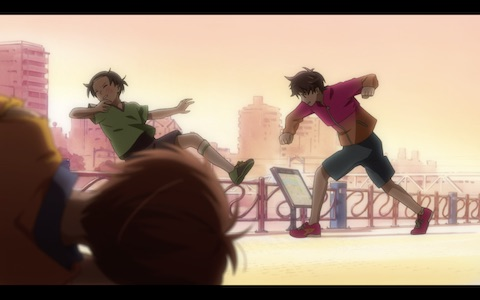 (Fantasy Kazuki punches out one of the boys Enta got into a fight with.)