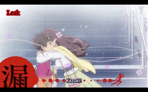 (Kazuki meets his biological mother on the street by chance.)
