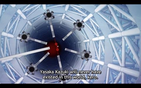 "Keppi: ""Yasuka Kazuki will have never existed in this world, kero."""
