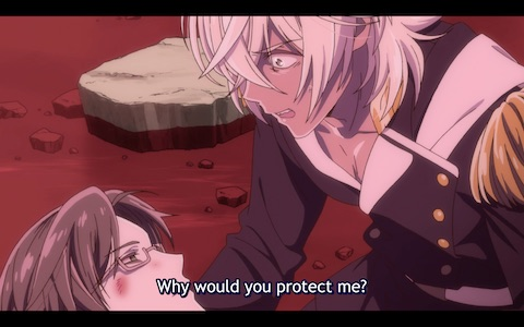 """Leo, to Mab: """"Why would you protect me?"""""""